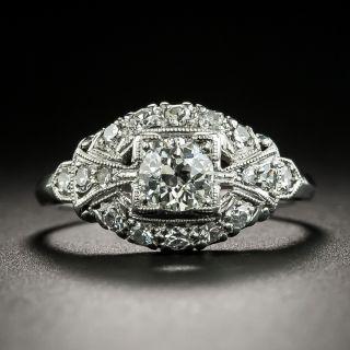 Mid-Century .45 Carat Diamond Engagement Ring - 2