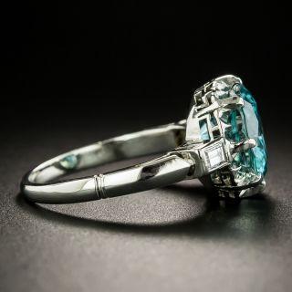 Mid-Century 5.00 Carat Zircon and Diamond Ring