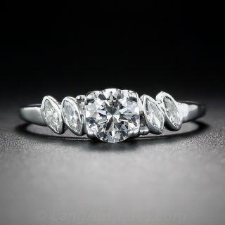 Mid-Century .50 Carat Diamond Engagement Ring By Birks - 1