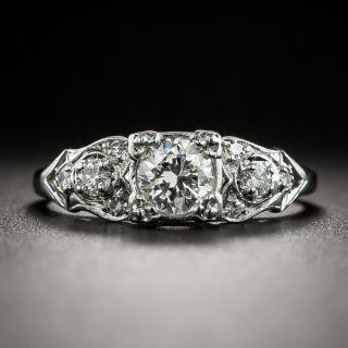 Mid-Century .51 Carat Diamond Engagement Ring by Krementz - 1