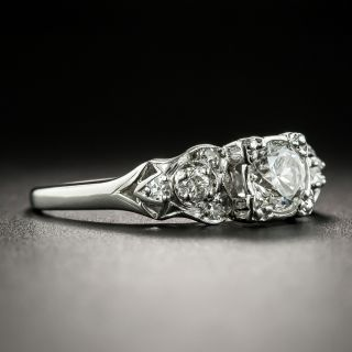 Mid-Century .51 Carat Diamond Engagement Ring by Krementz