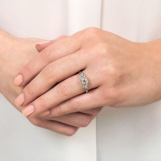 Mid-Century .51 Carat Diamond Engagement Ring