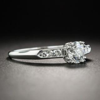 Mid-Century .60 Carat Diamond Platinum Engagement Ring - GIA E SI1