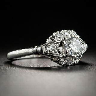 Mid-Century .60 Carat Diamond Platinum Engagement Ring