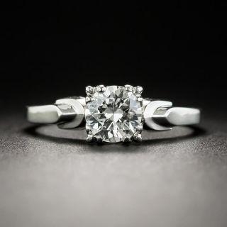 Mid-Century .60 Carat Diamond Platinum Wedding Set