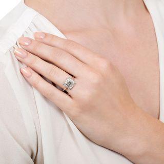 Mid-Century .61 Carat Diamond Engagement Ring