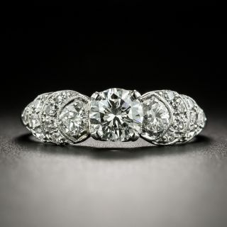 Mid-Century .64 Carat Diamond Engagement Ring - 2