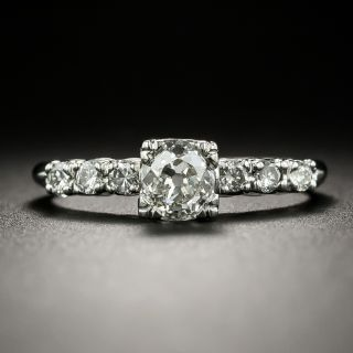 Mid-Century .65 Carat Diamond Engagement Ring - 3