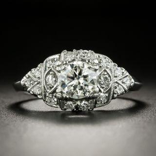 Mid-Century .68 Carat Diamond Engagement Ring - 2