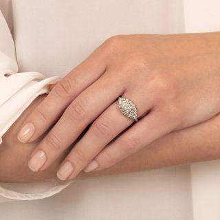 Mid-Century .68 Carat Diamond Engagement Ring