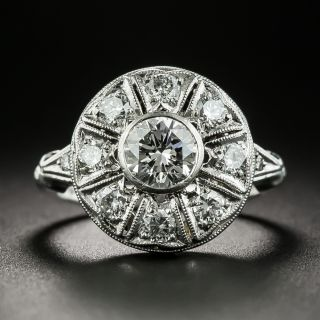 Mid-Century .70 Carat Center Diamond Engagement Ring - 2
