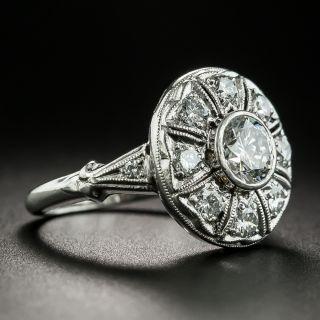 Mid-Century .70 Carat Center Diamond Engagement Ring