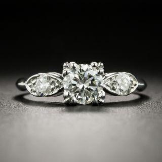 Mid-Century .70 Carat Diamond Engagement Ring - GIA - 2