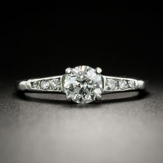 Mid-Century .70 Carat Diamond Engagement Ring - 2