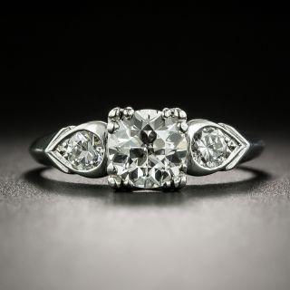 Mid-Century .72 Carat Diamond Engagement Ring by Loretz and Benoit - 2