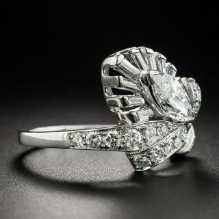 Mid-Century Platinum .80 Carat MarquiseDiamond Ring