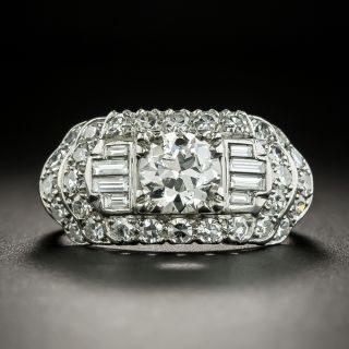 Mid-Century .83 Carat Diamond Engagement Ring by Granat Brothers - GIA G SI1  - 3