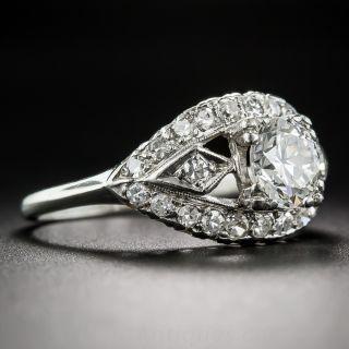 Mid-Century .90 Carat Diamond Engagement Ring, Circa 1950's