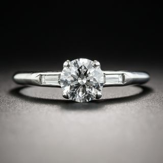 Mid-Century .90 Carat Diamond Engagement Ring - GIA E SI1 - 1