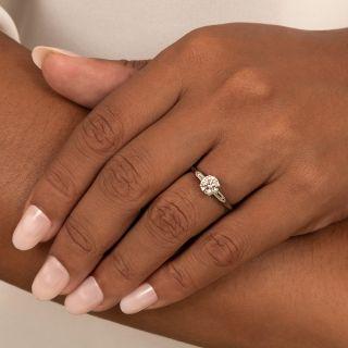 Mid-Century .90 Carat Diamond Engagement Ring - GIA E SI1