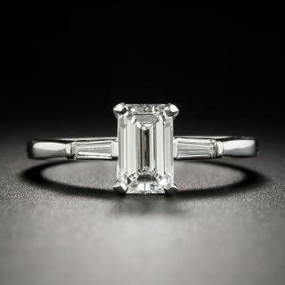 Mid-Century .99 Emerald-Cut Diamond Engagement Ring - GIA F VVS1 - 2