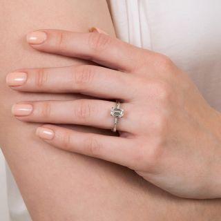 Mid-Century .99 Emerald-Cut Diamond Engagement Ring - GIA F VVS1
