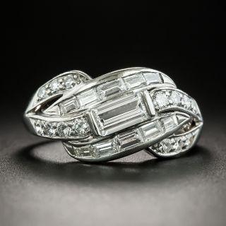 Mid-Century Baguette Diamond Band Ring by Hartzberg  - 2