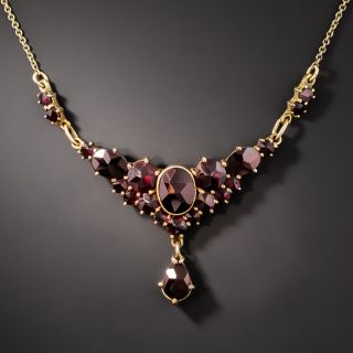 Vintage Bohemian Garnet Necklace - 2