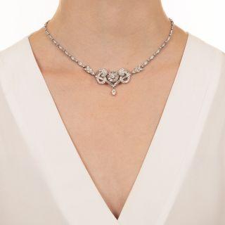 Mid-Century Centerpiece Diamond Necklace