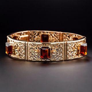 Mid-Century Citrine Link Bracelet - 1