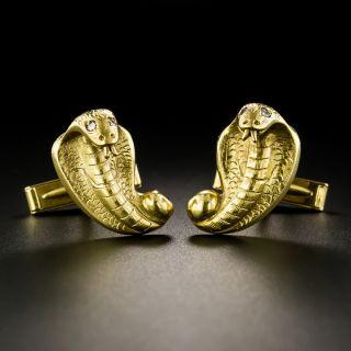 Mid-Century Cobra Cufflinks - 2