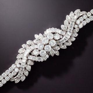 Mid-Century Diamond and Platinum Bracelet - 18.65 Carats - 1