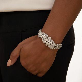 Mid-Century Diamond and Platinum Bracelet - 18.65 Carats