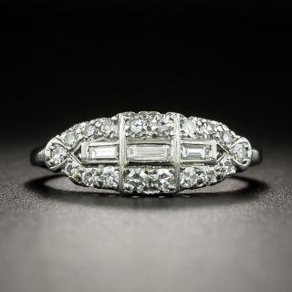 Mid Century Diamond Band Ring by Albert Samuels Co. - 2