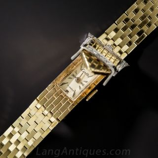 Mid-Century Diamond Buckle Watch