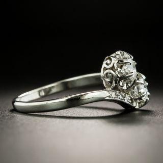 Mid-Century Diamond Bypass Ring