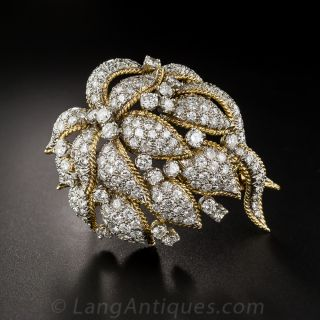 Mid-Century Diamond Corsage Brooch - 1
