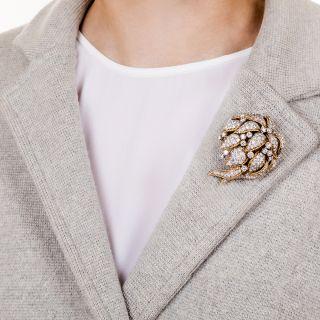 Mid-Century Diamond Corsage Brooch