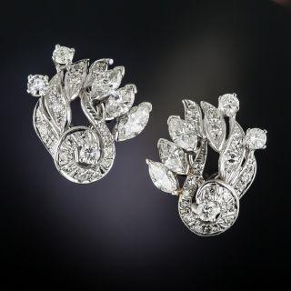Mid-Century Diamond Earrings - 2