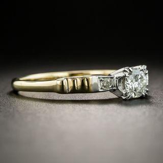 Mid-Century Diamond Engagement Ring