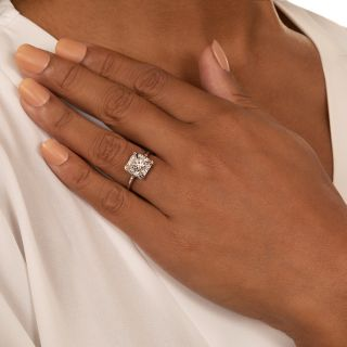 Mid-Century Diamond Engagement Ring by Traube