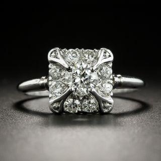 Mid Century Diamond Engagement Ring by Traube - 2