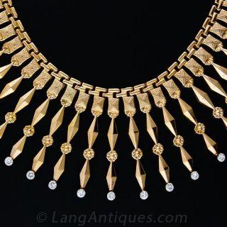 Mid-Century Diamond Fringe Necklace