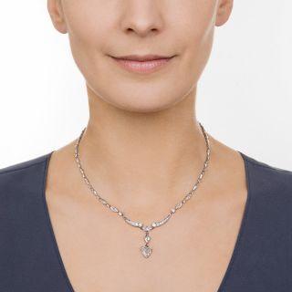 Mid-Century Diamond Necklace by Edward Petri