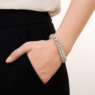 Mid-Century Diamond Platinum Dress Bracelet