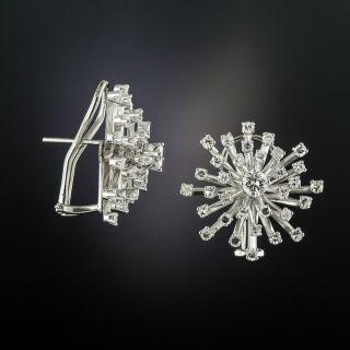 Mid-Century Diamond Starburst Earrings - 2