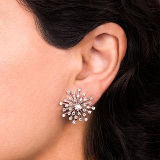 Mid-Century Diamond Starburst Earrings