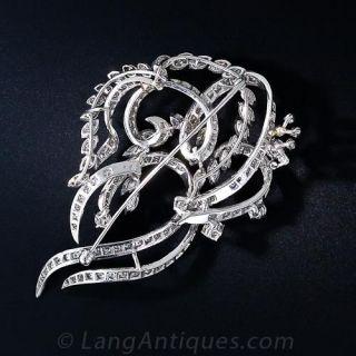 Mid-Century Diamond Swirl Brooch
