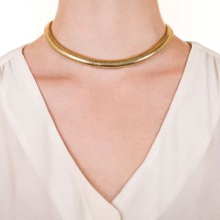 Mid-Century Gas Pipe Necklace by Forstner