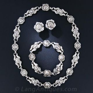 Mid-Century Georg Jensen Sterling Silver Jewelry Suite - 1